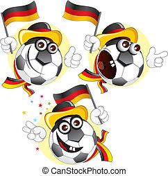 palla, germania, cartone animato