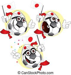 palla, giapponese, cartone animato