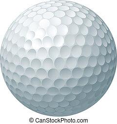 palla, golf, illustrazione
