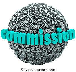 palla, gratifica, pagare, segnale percento, commissione, tasso, guadagno