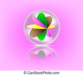 palla, marmo, riflessione, colorito