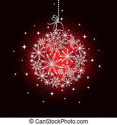 palla, modello, ornamento, seamless, fondo, natale, rosso