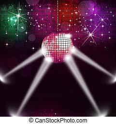 palla, musica, fondo, discoteca