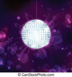 palla, musicale, fondo, discoteca