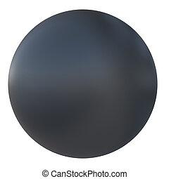 palla, nero, plastica
