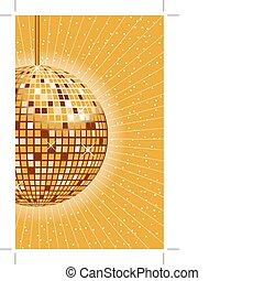 palla, oro, discoteca