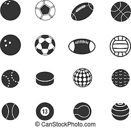 palla, silhouette, sport, collezione