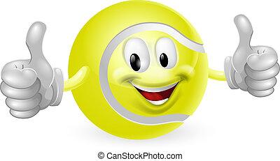 palla tennis, mascotte