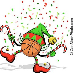pallacanestro, elfo, natale