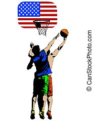 pallacanestro, tre persone