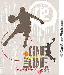 pallacanestro, uno