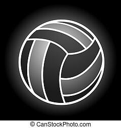 pallavolo, simbolo, elegante