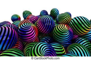 palle, colorato