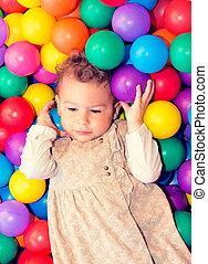 palle, colorito, bambino