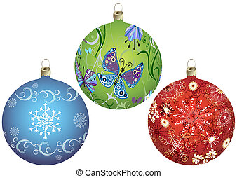 palle, set, christmas`s