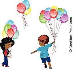 palloni, bambini