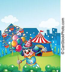 palloni, pagliaccio, carnevale