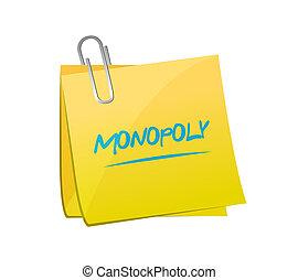palo, messaggio, concept., monopolio