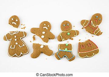 pan zenzero, cookies., rotto