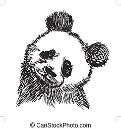 panda, porcellana, simbolo