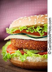 panino, fish, hamburger, pollo, fritto, o
