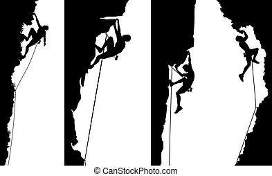 pannelli, arrampicatore, lato