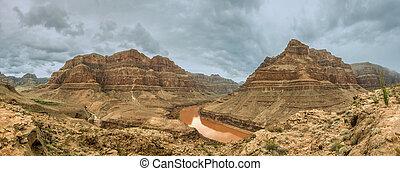 panorama, canyon, colorado, grande