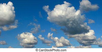 panorama, cielo luminoso