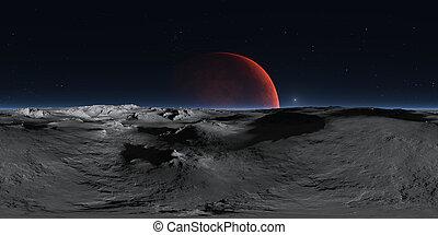 panorama., map., rosso, grado, marte, 3d, fondo, proiezione, pianeta, panorama, hdri, equirectangular, phobos, ambiente, 360, sferico, interpretazione