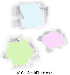 paper., set, fori, bianco