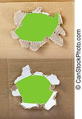 paper., set, fori, cartone