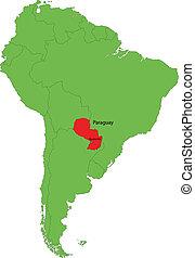paraguay, mappa