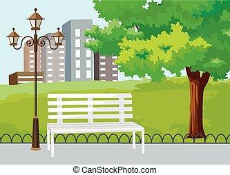 parco, pubblico, vettore, città