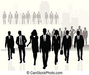 parecchi, affari persone, squadre