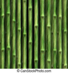 parete, bambù