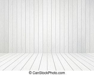 parete, bianco, legno, fondo, pavimento