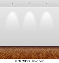 parete, bianco, legno, stanza, vuoto