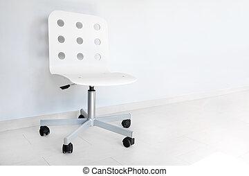 parete, bianco, sedia, contro