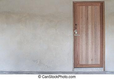 parete, casa, vecchio, porta, legno