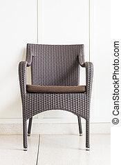 parete, decorazione, sedia, bianco, mobilia
