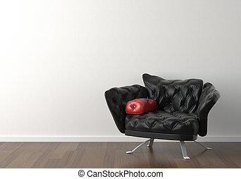 parete, disegno, interno, nero, sedia, bianco