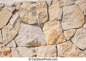 parete, fieldstone, closeup