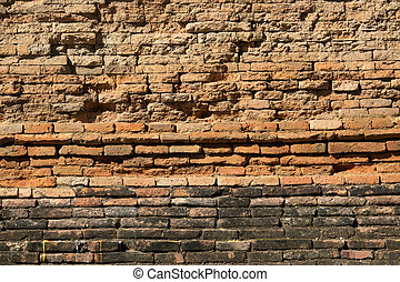 parete, fondo, mattone