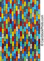 parete, fondo., mattone, colorito