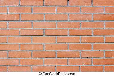 parete, fondo., mattone, rosso, struttura