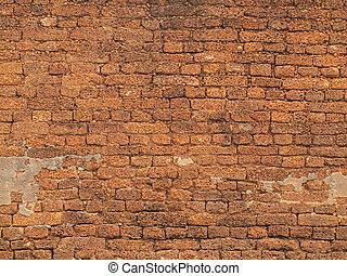 parete, fondo, mattone, struttura