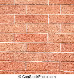parete, fondo, struttura, mattone