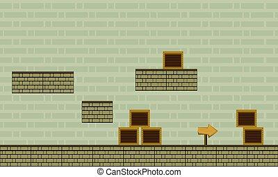 parete, gioco, stile, fondo, collezione