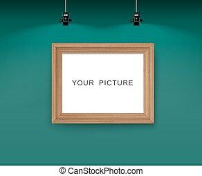 parete, immagine, frame.