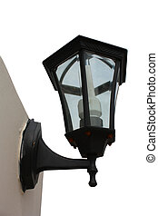 parete, lampada